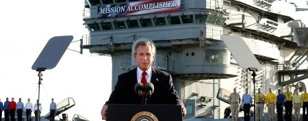 Will President Bush try to rewrite history?