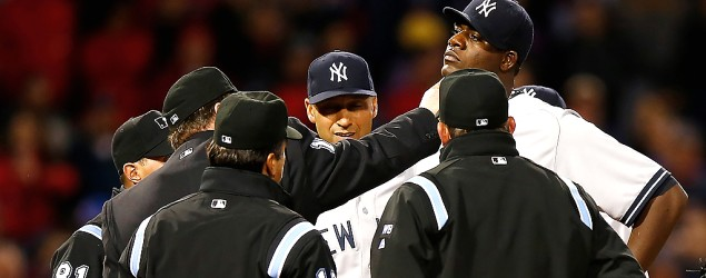 New York Yankees pitcher Michael Pineda ejected for cheating. (Getty Images)
