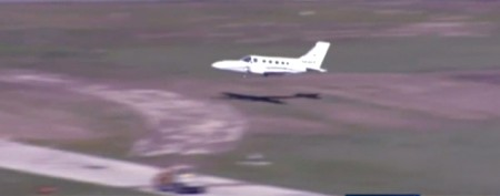Pilot safely lands plane on its belly