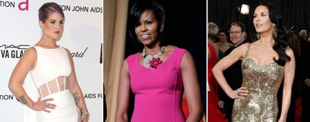 Left: Kelly Osbourne (Getty Images); Center: Michelle Obama (J. Scott Applewhite/AP); Right: Catherine Zeta-Jones (Getty Images)