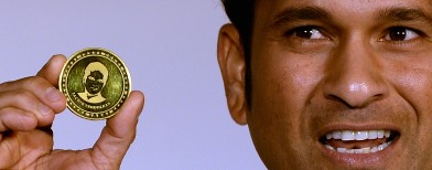 New gold coin bears Tendulkar's face