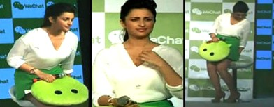 Oops! Parineeti's uncomfortable little skirt