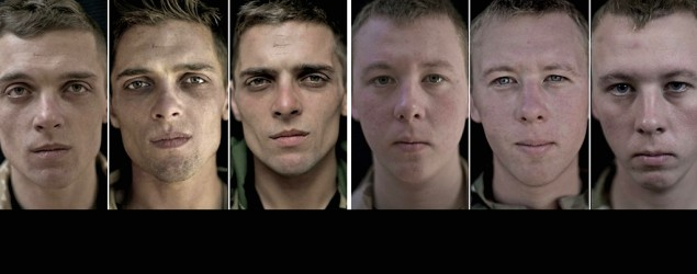 Faces of war: Soldiers before and after combat (Lalage Snow)