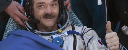 Canadian astronaut Chris Hadfield (Mikhail Metzel/Reuters, Pool)