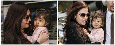 Aaradhya lands in Cannes with mom Ash