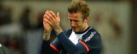 David Beckham moved to tears in final game
