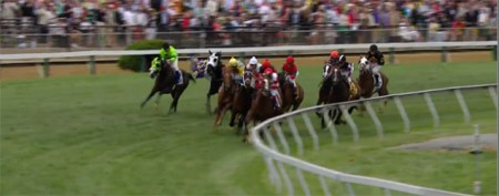 Scary moment in Preakness prelim