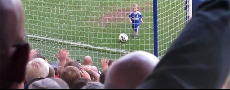 Toddler's goal steals show during ceremony