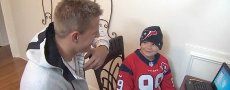 NFL star surprises 12-year-old cancer patient