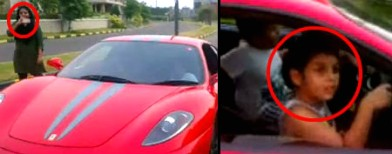 Video: 9-yr-old Indian kid drives a Ferrari