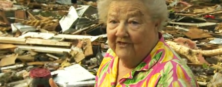 Lost dog emerges from tornado rubble on TV