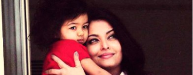 Beti B snuggles up to mom Aishwarya