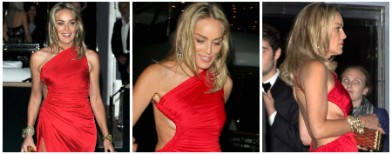 Oops, Sharon Stone's keeping abreast!