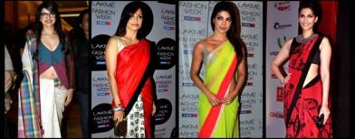 Look who's bringing the sari back