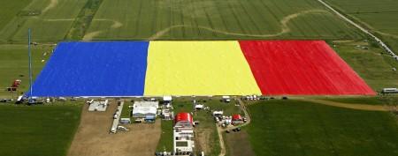 Tiny village unfurls record-breaking flag