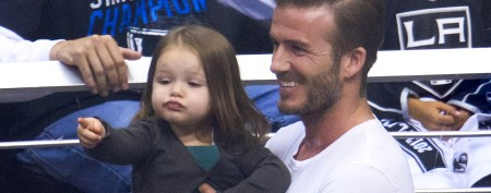 David Beckham's adorable Kiss Cam surprise