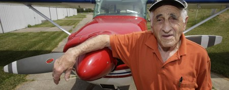Pilot lands on 'wild idea' for 90th birthday