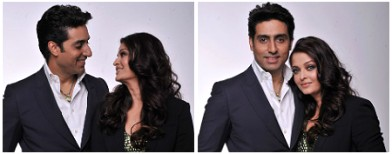Abhishek and Aishwarya's cosy moments
