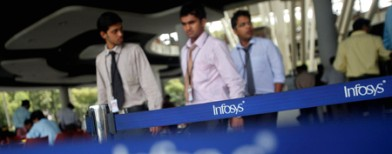 Infosys shares jump 8% on Murthy's return