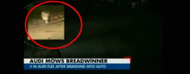 Caught on cam: 4 in an Audi mow down auto
