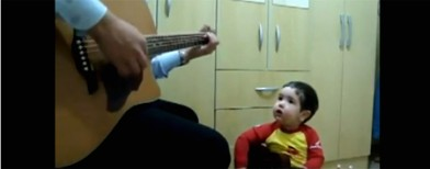 Must-watch: Adorable father-son duet