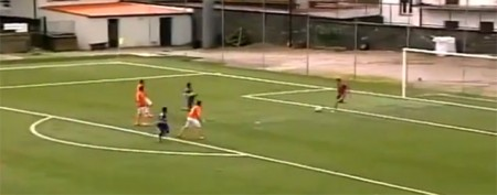 Goalie humiliated by his own freak goal