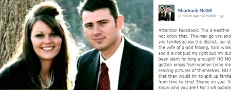 Politician's wife posts warning on Facebook
