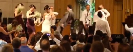 Recently popular dance takes over wedding