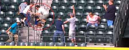 Man runs over child to get to home run ball