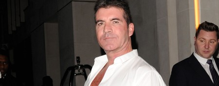Simon Cowell pelted with eggs on live TV