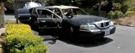 Elderly women escape terrifying limo blaze