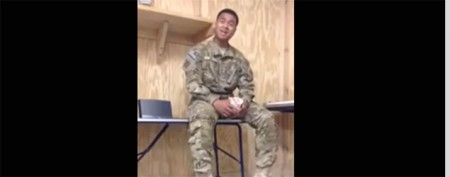 Popular This Week: Soldier's stirring song