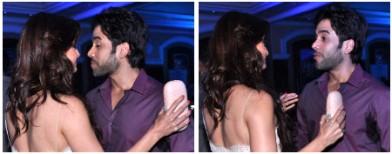 Tusshar Kapoor caught snatching a kiss