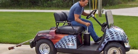 You'll never guess how fast this golf cart can go