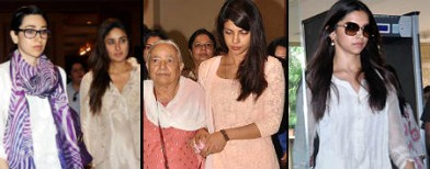 Celebs attend prayer meet of Priyanka's dad