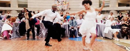 Newlyweds tear up the dance floor
