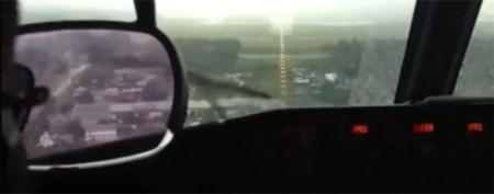 Pilot aborts landing when runway 'disappears'