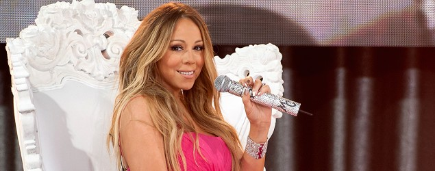 Mariah Carey shares photo of herself in trendy monokini. (FilmMagic)