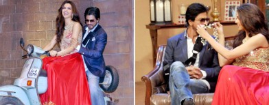 Dippy takes SRK for a ride