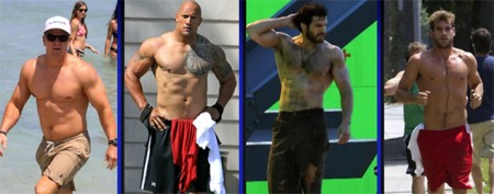 How Hollywood stars get buff for the big screen