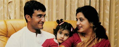 Sourav Ganguly over the years