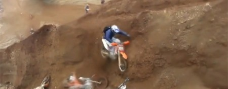 Dirt bike race's unexpected detour