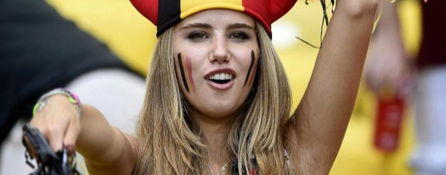 Axelle Despiegelaere catches the eye of a major cosmetics brand when her photo appears on newspapers and social media. (Getty Images/ABC News)