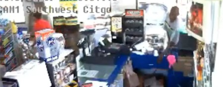 Job applicant accused of robbing gas station