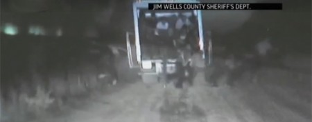 Suspected human-smuggling truck on camera