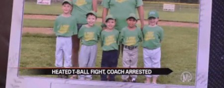 Coach arrested in assault at T-ball game