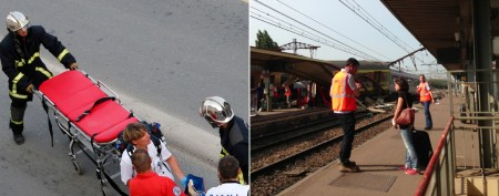 Frightening images from train crash in France