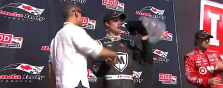 Driver drops prized runner-up trophy