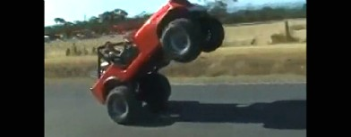 Wow! This jeep does a wheelie