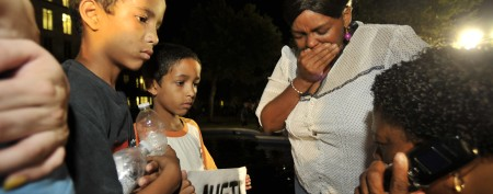 Emotional images after Zimmerman verdict
